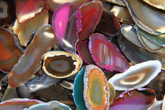 Color agates mineral background Royalty Free Stock Images