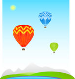 Color Air balloons Royalty Free Stock Photography