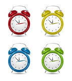Color Alarm clock set. Stock Images
