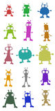 Color aliens. Creative design of color aliens Stock Image