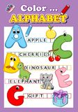 Color the alphabet Stock Photography
