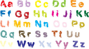 Color alphabet Stock Photo