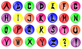 Color alphabet. Simple color button with alphabet Stock Image