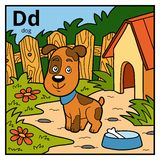 Color alphabet for children, letter D dog. Vector color alphabet for children, letter D dog Stock Illustration