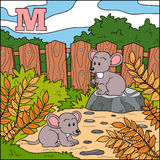 Color alphabet for children: letter M (mouse) Stock Photos