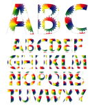 Color alphabet fonts Royalty Free Stock Photo