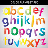 Color Alphabet A-Z. For design Royalty Free Stock Photo