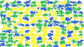 Color amarillo del lazo del fondo, azul y verde video inconsútil manchado animado abstracto almacen de video