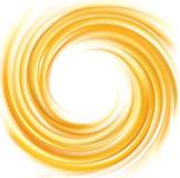 Color amarillo vivo del contexto del vector que remolina Foto de archivo