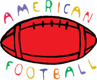 Color american football design with text.  Vector Stock Photo