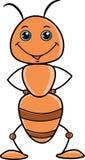 Color anaranjado y marrón de la hormiga linda de la historieta stock de ilustración