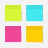 color anmärkningar klibbiga Arkivbild