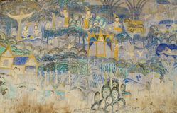 Color antiguo del templo de Tailandia del arte Imágenes de archivo libres de regalías