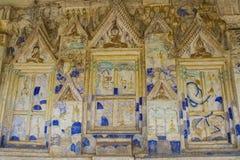 Color antiguo del templo de Tailandia del arte Fotos de archivo
