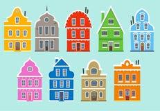 Color Apartment House Architectural outbuilding Construction hou Stock Photos