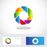 Color aperture photography shutter icon logo Stock Images