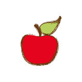 Color apple fruit icon stock Stock Photography