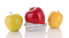 Color apples measured   meter Royalty Free Stock Photo