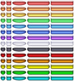 Color aqua-gel buttons Stock Image