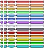 Color aqua-gel buttons vector illustration