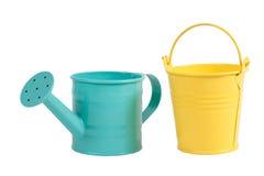 color arbeta i trädgården grönt pastellfärgat bevattna för kruka Royaltyfria Bilder