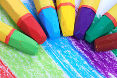 Color Arc By Crayons Stock Image