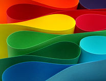 Color arc formation. Color paper variety arc wave form spectrum stock photo