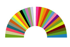 Color arch. Designed in illustrator Royalty Free Stock Photo