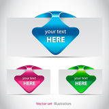 Color arrow bookmark royalty free illustration