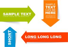 Color arrow bookmarks templates Stock Images