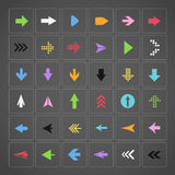 Color arrow buttons Royalty Free Stock Photography