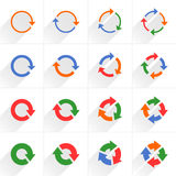 Color arrow icon refresh, rotation, repeat sign Stock Photo