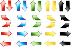 Color arrow icons Stock Photography