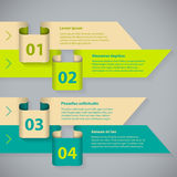 Color arrow infographic with 4 options Royalty Free Stock Image