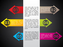 Color arrow labels with numbers. And description vector illustration