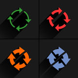 Color arrow reload, refresh, rotation, repeat icon Royalty Free Stock Image