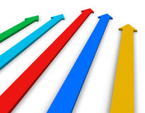 Color arrows. Isolated over white background Royalty Free Stock Photography