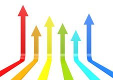 Color arrows Stock Images