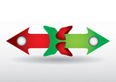 Color arrows. Pointing in different directions vector illustration