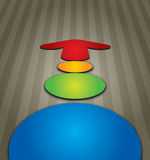 Color arrows. With abstract background and circle Royalty Free Stock Photo
