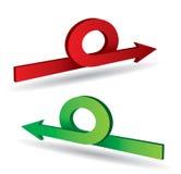 Color arrows Stock Images