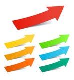 Color arrows. Color arrow stickers set, illustration Royalty Free Stock Image