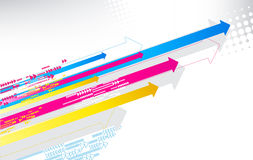 Color arrows Stock Photography