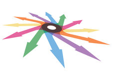 Color arrows. Abstract illustration for your design Stock Photography