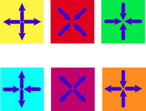 Color Arrows on the background. Royalty Free Stock Photo