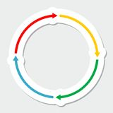 Color arrows, circle. Color arrows on white background, vector illustration royalty free illustration