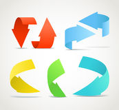 Color arrows collection Royalty Free Stock Photo
