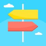 Color arrows direction Stock Photo