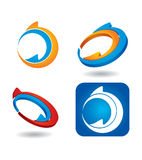 Color arrows icon set Stock Images