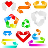 Color arrows icons Stock Photo